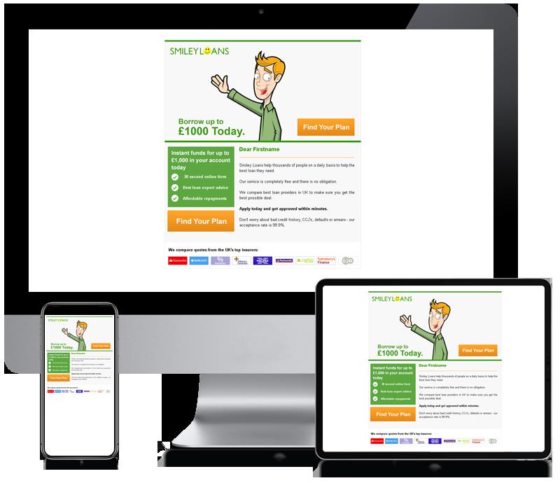 Smiley Loans - Internet Marketing Newsletter Design