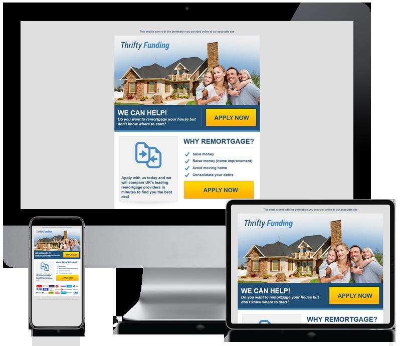 Thrifty Funding - Internet Marketing Newsletter Design