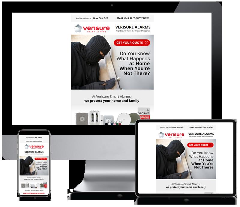 Verisure Smart Alarms - Newsletter Design