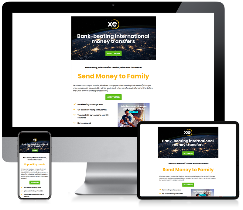 XE - Money Transfer Email Creative Design