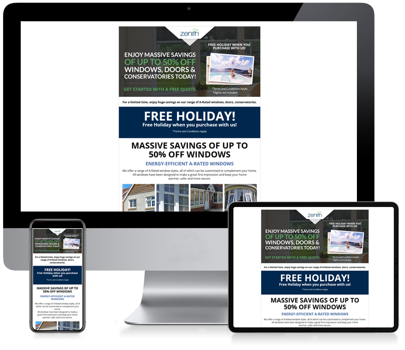 Zenith Windows - Email Newsletter Design
