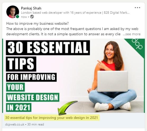 HTML Title LinkedIn Posts