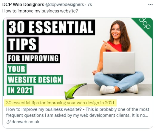 HTML Title Twitter Posts