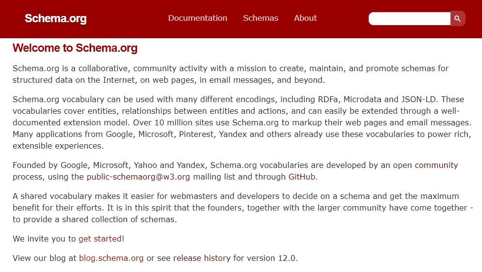 Schema.org website
