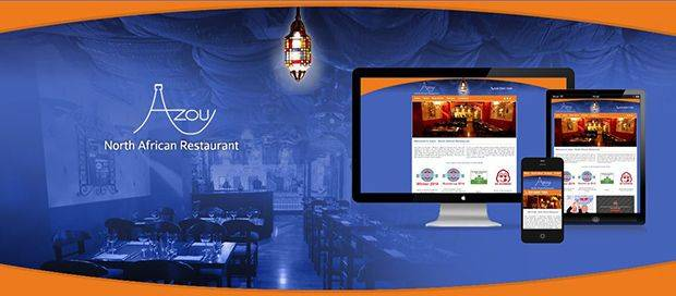 Azou North African Restaurant - CMS Website Design