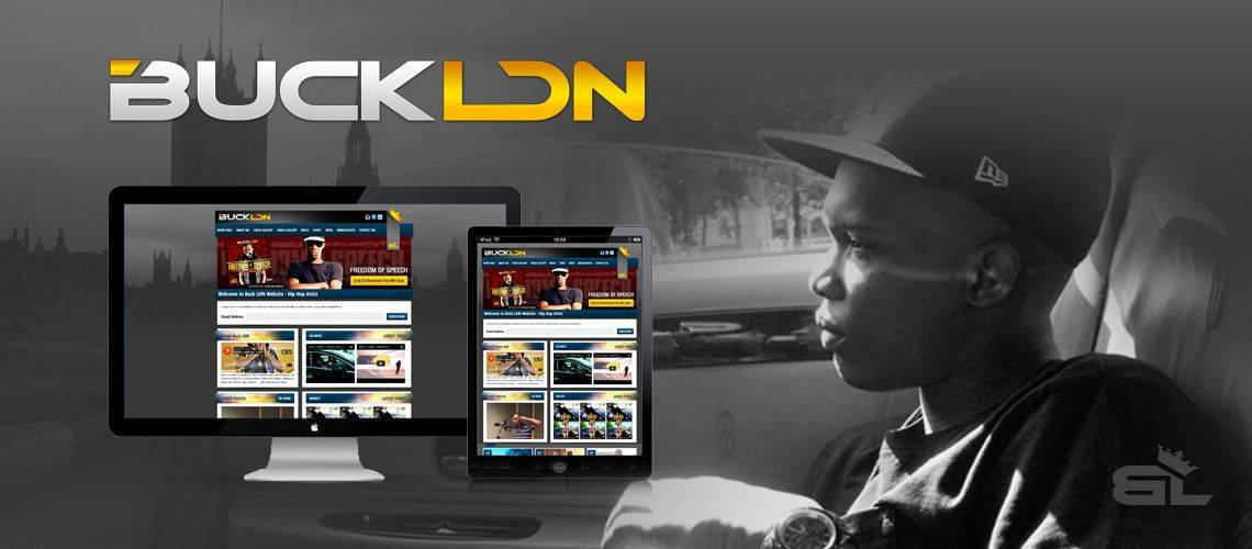 BUCK LDN - Hip Hop Web Design