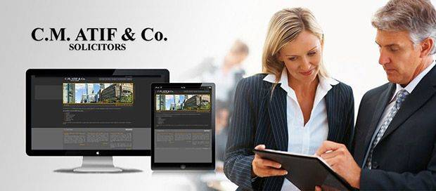 CM Atif & Co - Solicitors Website Design