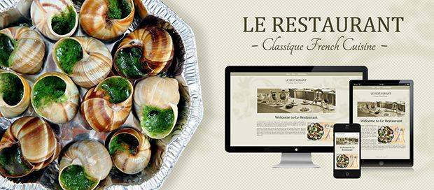 LeRes French Restaurant - Mobile Website Site