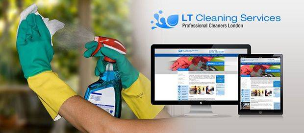 LT Cleaning Services - Cleaning Company Website Design