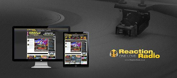Reaction Radio - Online Radio Website Design