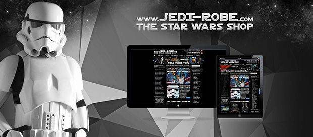 Jedi Robe Star Wars Shop - Responsive Ecommerce Web Design
