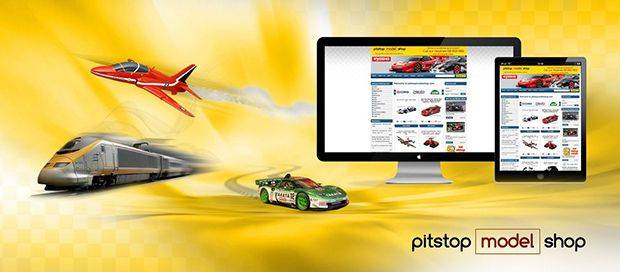 Pitstop model shop - Custom Ecommerce Website Design