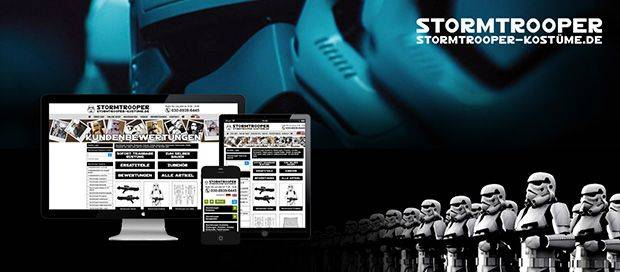 project-Stormtrooper Kostüme - Responsive Ecommerce Web Design