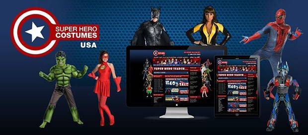 Superhero Costumes - Online Shopping Website Design