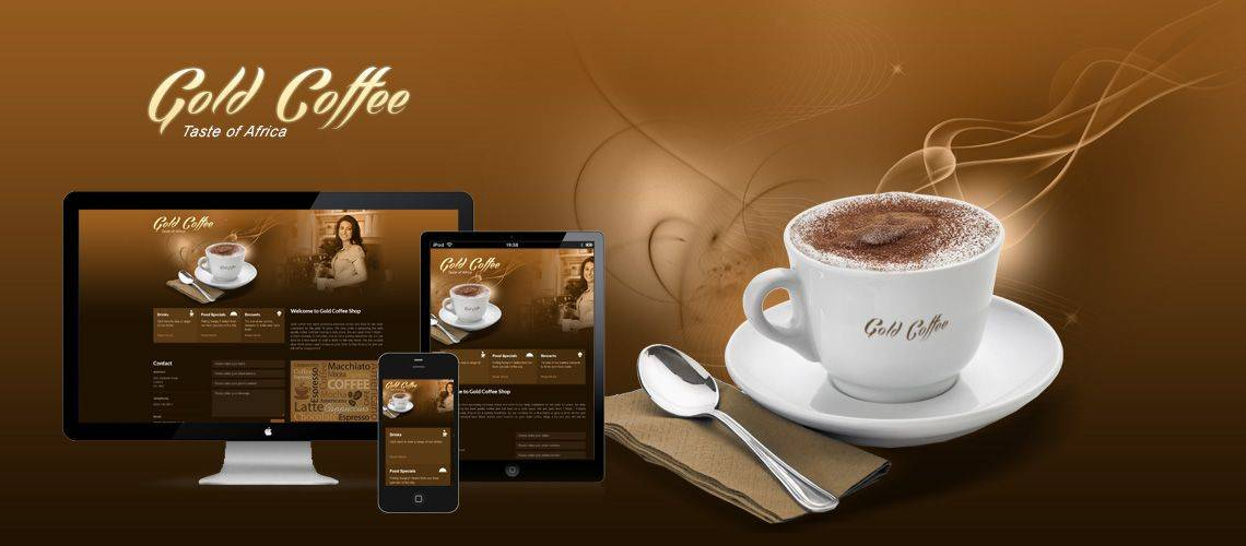 Gold Coffee Shop - Responsive Website Design