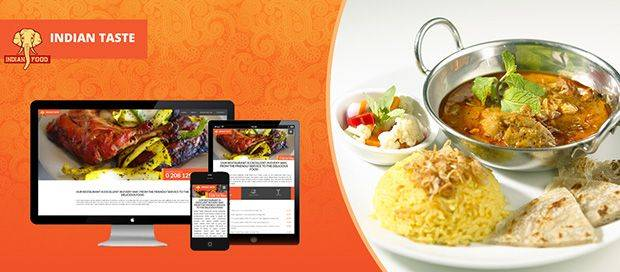 Indian Taste Restaurant - Website Design