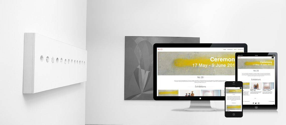 No 20 Arts - Responsive Website Design