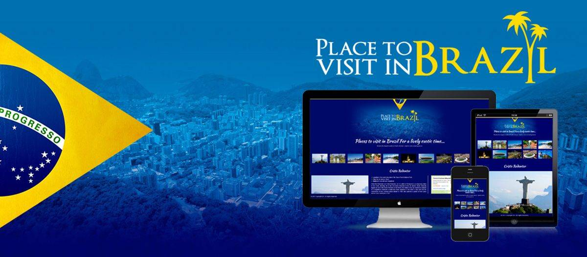 Places to visit in Brazil - Responsive Web Design
