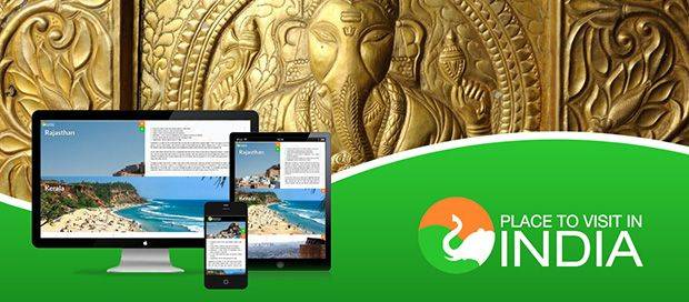 Places to visit in India - Tour Responsive Website Design