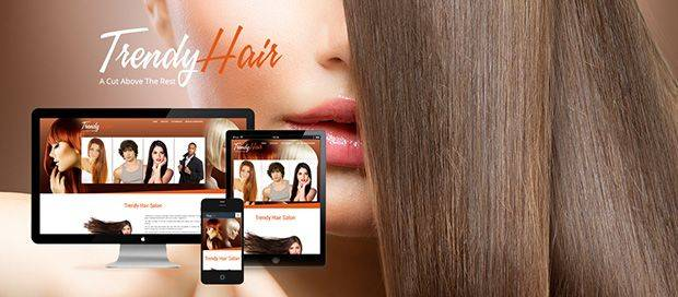 Trendy Hair Salon - Mobile Friendly Website Design