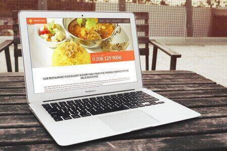 DCP completes Indian Taste Restaurant - Website Design