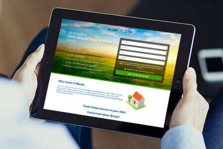 DCP completes Invest Corp - Lead Generation Website Design