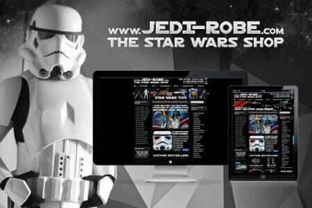 Jedi Robe Star Wars Shop - Responsive Website Design Upgrade
