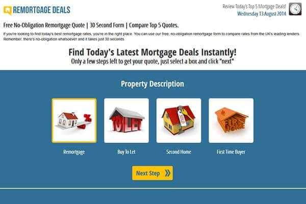 DCP completes new Responsive Lead Generation Website Remortgage Deals