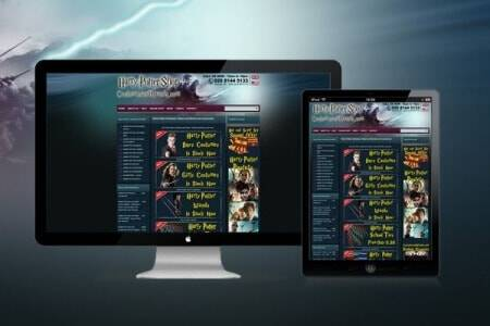 DCP completes new Costumes and Wands - Ecommerce Web Design